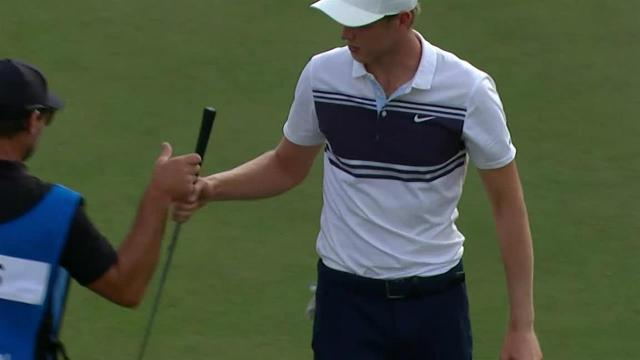 Cameron Davis gets up-and-down for birdie at The American Express