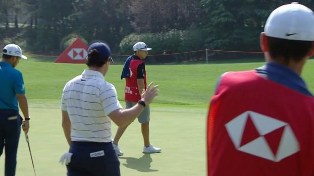 Rory McIlroy's birdie putt from the fringe at WGC-HSBC Champions
