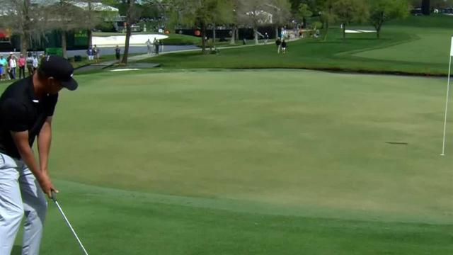 Keith Mitchell gets up-and-down for birdie at Arnold Palmer