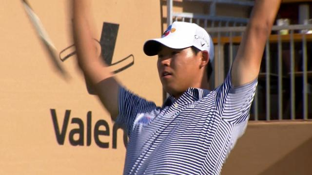 Today's Top Plays: Si Woo Kim's ace leads Shots of the Week