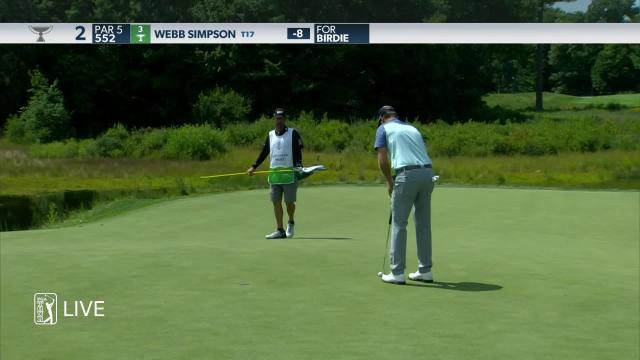 Webb Simpson birdies No. 2 in Round 3 at THE NORTHERN TRUST
