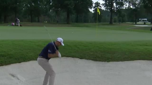 Bill Haas' hole-out birdie chip shot at Sanderson Farms