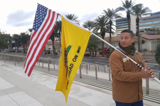 Las Vegas Review Journal News   People's Rights leader arrested for alleged law enforcement
