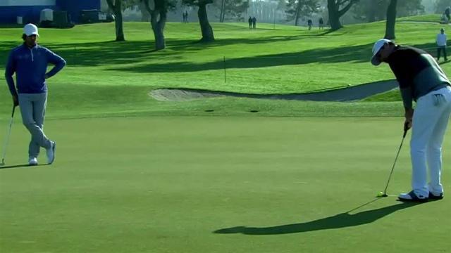 Rory Sabbatini sinks birdie putt at Farmers