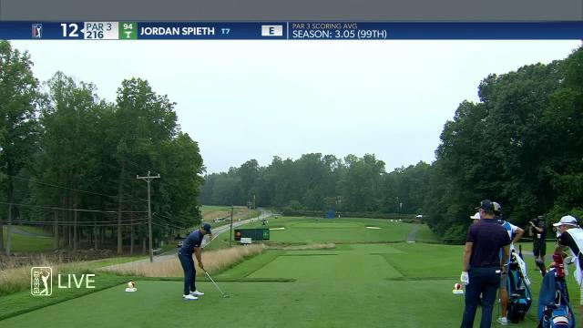 Jordan Spieth birdies No. 12 in Round 1 at Wyndham