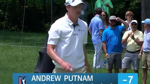 Andrew Putnam drains 17-footer for birdie at the Memorial
