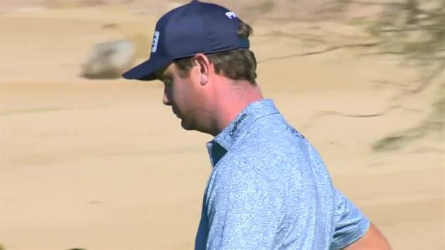 Harris English reaches in two to set up birdie at Waste Management