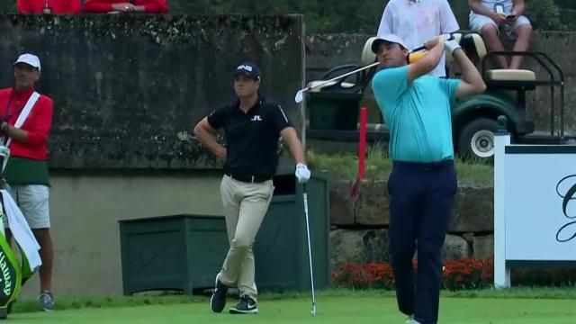 Scottie Scheffler dials in tee shot to set up birdie at The Greenbrier