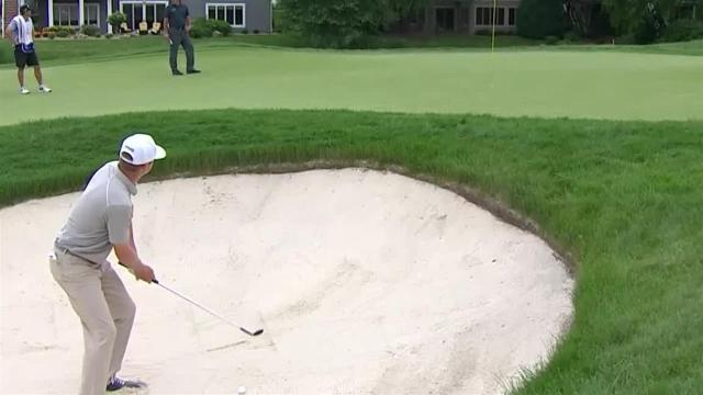 Nate Lashley's near hole-out bunker shot at 3M Open