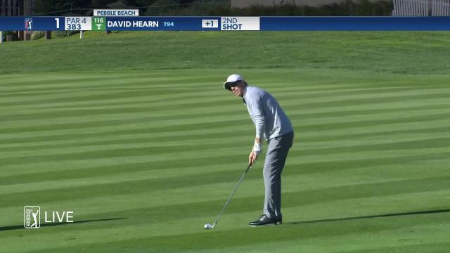 David Hearn makes birdie on No. 1 in Round 2 at AT&T Pebble Beach