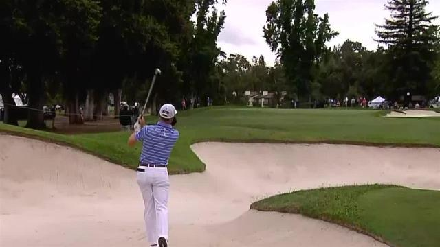 Justin Thomas sets up birdie from fairway bunker at Safeway Open