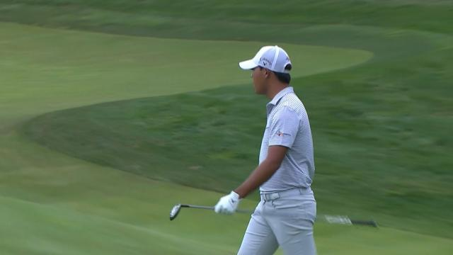 Si Woo Kim makes birdie with fairway wood at THE CJ CUP