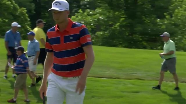 Daniel Berger gets up-and-down for birdie at John Deere