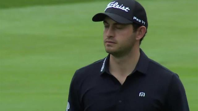 Patrick Cantlay gets up-and-down for birdie at Travelers