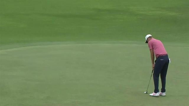 Cameron Davis rolls in 17-footer for birdie at the Sony Open