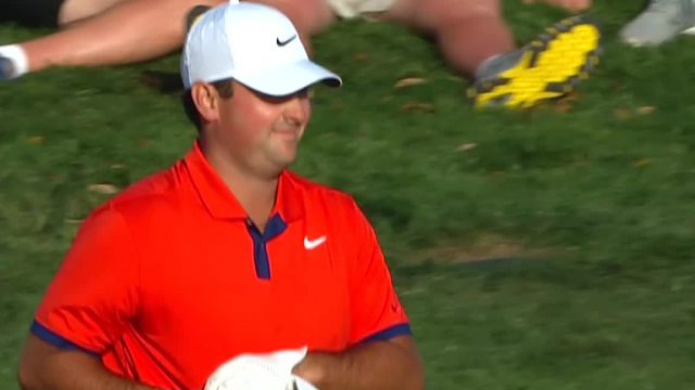 Patrick Reed chips in for eagle at THE PLAYERS