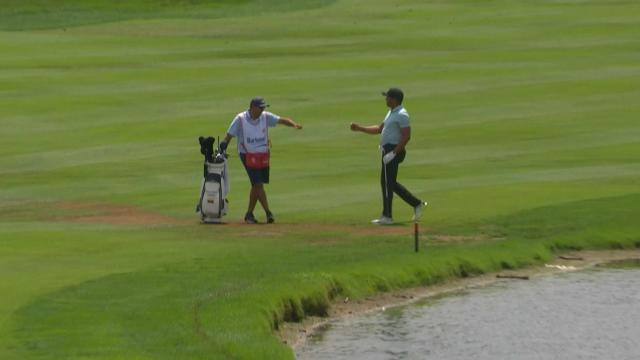 Today's Top Plays: Jhonattan Vegas' hole-out eagle from 148 yards for the Shot of the Day