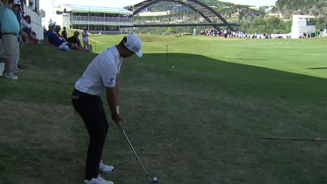 Xander Schauffele's approach from the crowd yields birdie at WGC-Dell Match Play