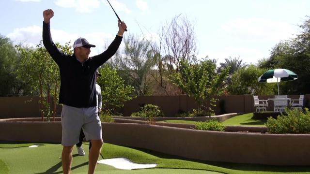 Joel Dahmen and Brian Urlacher play backyard course inspired by Augusta National
