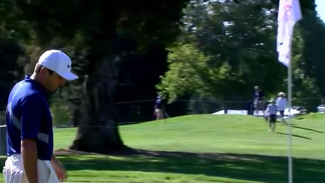 Francesco Molinari's birdie bump-and-run on No. 1 at Safeway Open