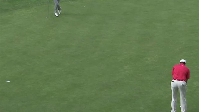 Michael Thompson's eagle on No. 16 at Safeway Open
