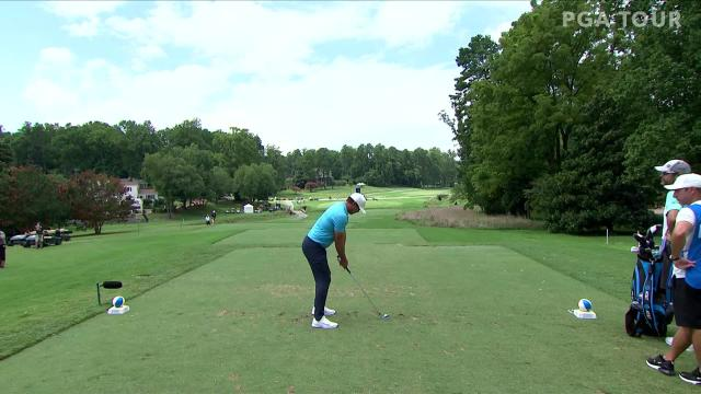 Brooks Koepka makes birdie on No. 7 in Round 2 at Wyndham