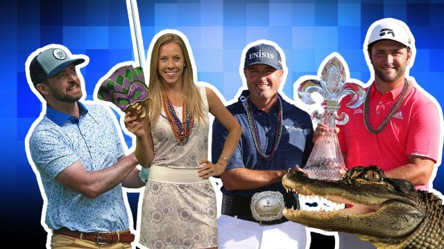 Palmer & Rahm share win and skittles, Si Woo's gator surprise & Jessica Biel cheers on Justin Timberlake