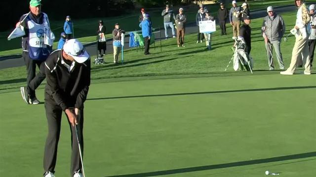 John Senden's nice approach leads to birdie at AT&T Pebble Beach
