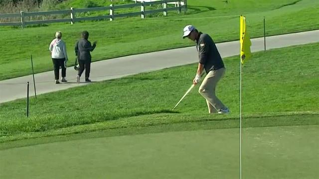 Richy Werenski chips in for birdie at Farmers
