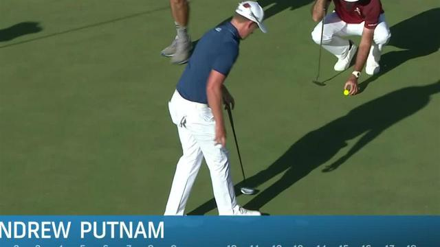 Andrew Putnam jars 21-footer for birdie at Shriners