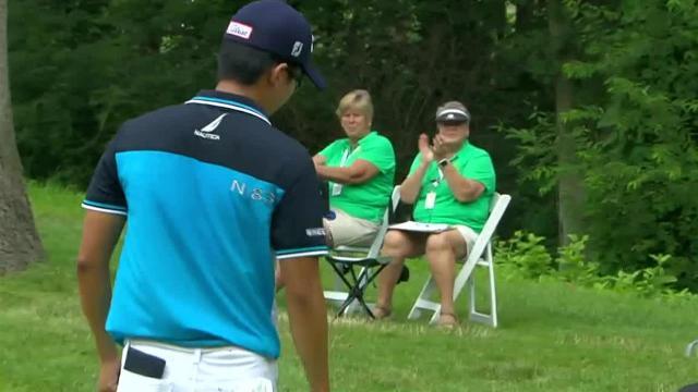 Michael Kim's 18-foot birdie putt at John Deere