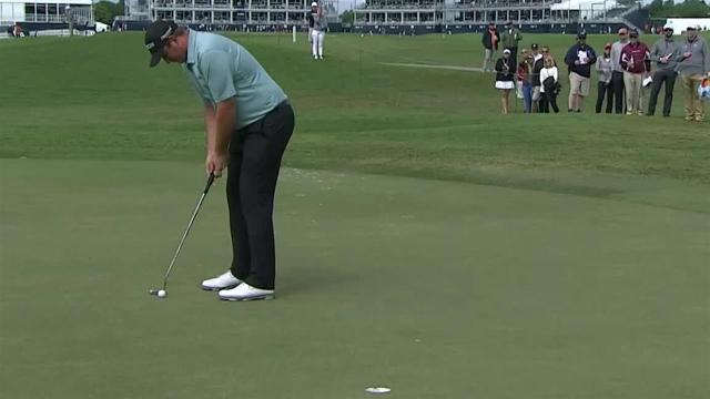 Sepp Straka's approach inside 10 feet leads to birdie at Houston Open