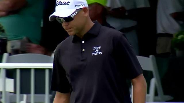 Bill Haas uses nice approach to set up birdie at Sanderson Farms
