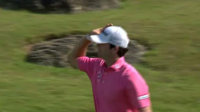 Davis Riley's bump-and-run for birdie at Great Abaco