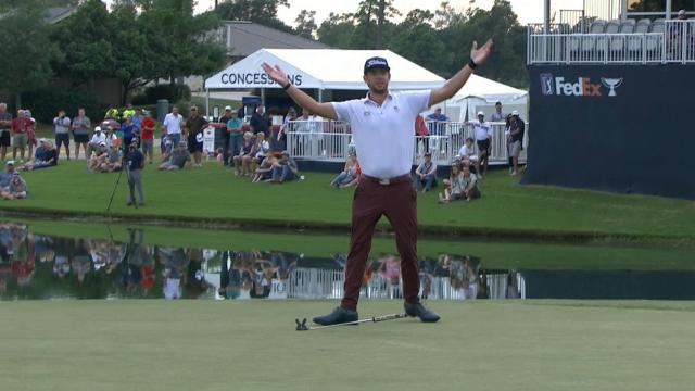 Lanto Griffin's clutch par putt on No. 18 at Houston Open