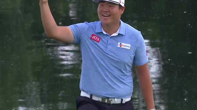 Sungjae Im's 23-foot chip shot on No. 18 at 3M Open