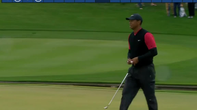 Tiger Woods makes birdie on No. 4 at THE PLAYERS