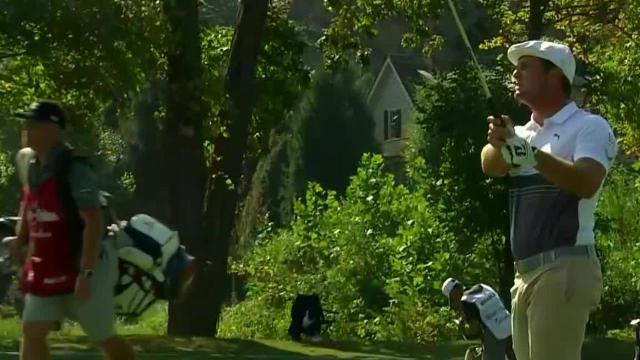 Bryson DeChambeau nearly holes approach shot at The Greenbrier