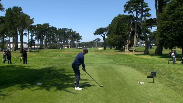 Tiger Woods hits perfect drives on Nos. 9 & 12 at the PGA Championship