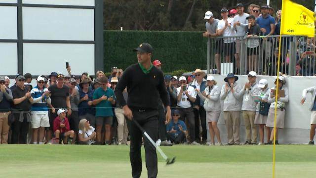 Adam Scott's eagle putt from the fringe at the Presidents Cup