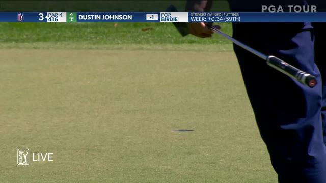 Dustin Johnson drains 34-foot birdie putt at Valspar
