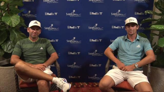 Joaquin Niemann and Sergio Garcia on playing together at Sentry before Sony Open