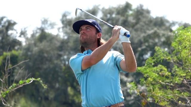 Joey Garber reacts to cruel near-ace at Orange County National