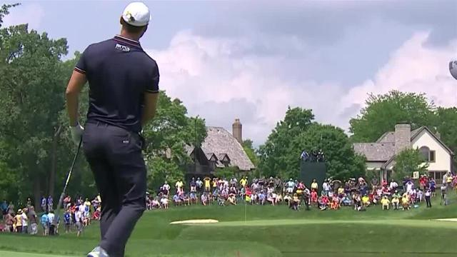 Martin Kaymer dials in approach to set up birdie at the Memorial