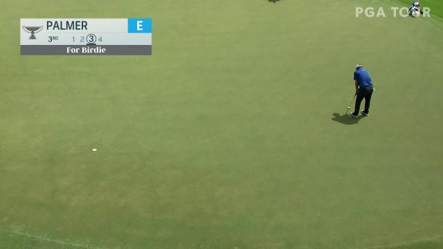 Ryan Palmer's 25-foot birdie putt at TOUR Championship
