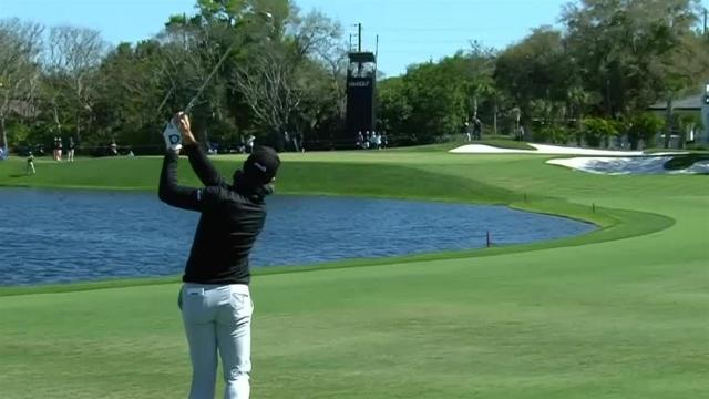Viktor Hovland's approach to 5 feet leads to birdie at Arnold Palmer