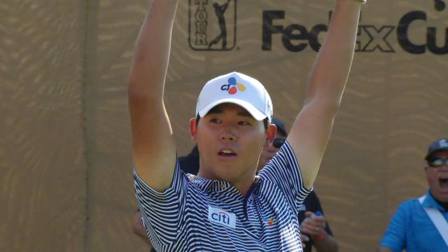 Si Woo Kim Round 2 highlights from Valero