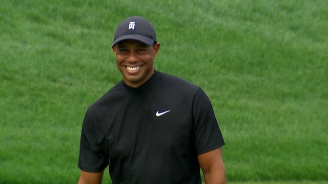 Tiger's LONG birdie, JT's bank shot and Hatton stays hot