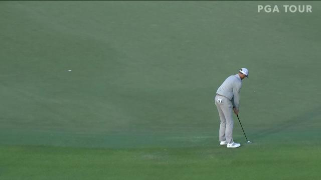 Brendon Todd sinks birdie putt from the fringe at The RSM Classic