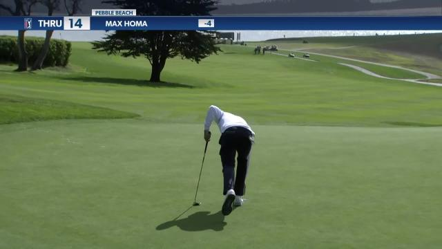 Max Homa spins wedge inside 8 feet and birdies at AT&T Pebble Beach
